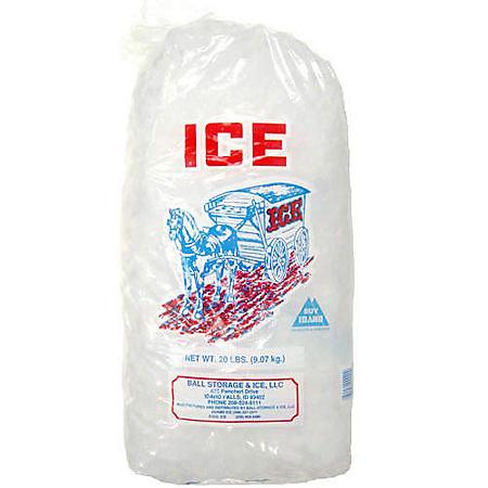 Ball Cubed Ice - 20 lb. bag