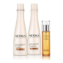 Nexxus Oil Infinite Frizz Defying System (2 - 13.5 fl. oz. + 1 - 3.38 fl. oz.)