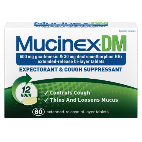 Mucinex DM Expectorant & Cough Suppressant - 60 ct.