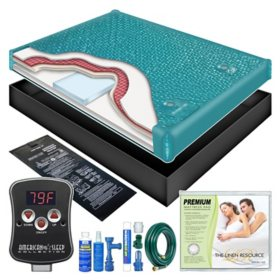 Ultra Waveless Lumbar Waterbed Mattress Kit - Queen
