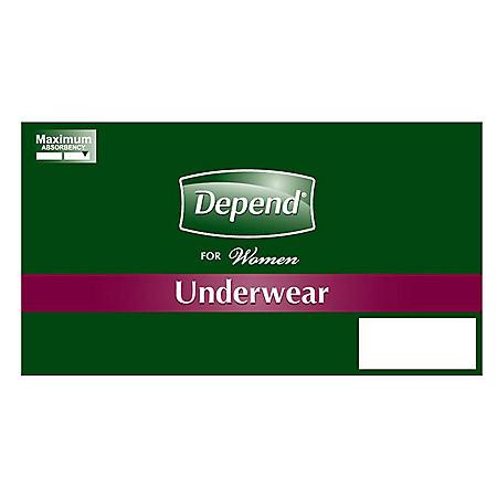 Depend for Women Maximum Absorbency Underwear - L/XL - 48 ct.