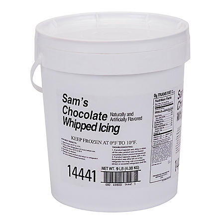 Chocolate Whipped Icing, Bulk Wholesale Case (9 lbs.)