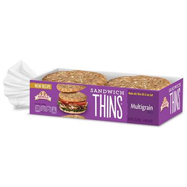 Sams Club Auto >> Multigrain Sandwich Thins (6 pk.) - Sam's Club