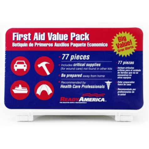 Ready America Value Pack First Aid Kit - 77 pc.
