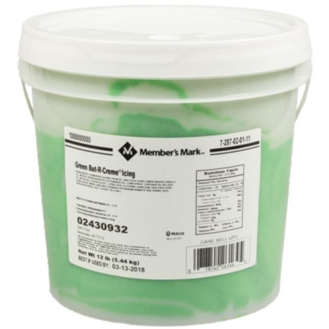 Case Sale: Member's Mark Green Icing (12 lbs.)