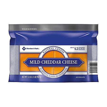 Members Mark Sliced Mild Cheddar Cheese (2 lbs.)