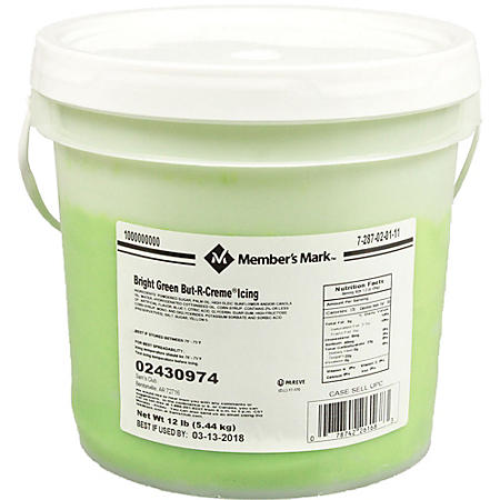 Case Sale: Member's Mark Bright Green Icing (12 lbs.)