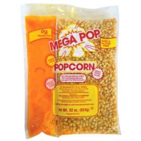 Gold Medal Mega Pop Corn, Oil and Salt Kit (16 oz. kit, 20 ct.)