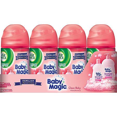 Air Wick Freshmatic Ultra Baby Magic Fresh Linen 4 Pk