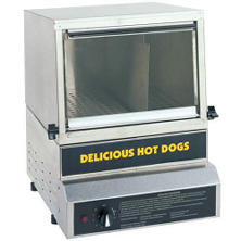 gold medal small hot dog steamer - Hot Dog Warmer