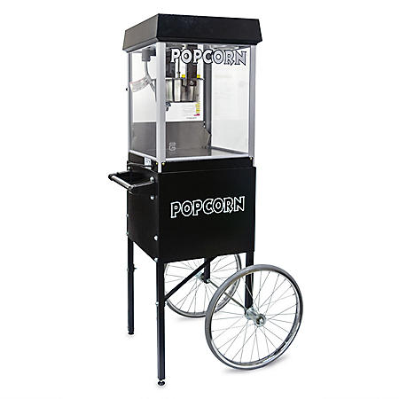 Gold Medal 2404MDSC 4 oz. Popper/Cart Combo - Black and Silver