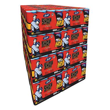 Scott Shop Towel Pallet 32 Packs 384 Rolls 21 120 Sheets Sam S