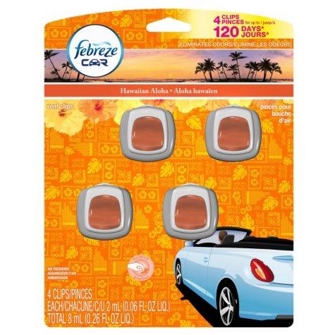 Febreze Car Vent Clips (various scents)