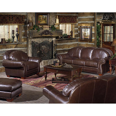 Telluride Living Room Collection Leather Sofa Set - 4 pc.