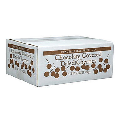 Traverse Bay Chocolate Covered Dried Cherries - 4 lb. Box