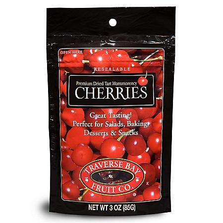 Traverse Bay Dried Cherries (3 oz.,12 pk.)