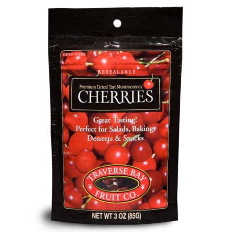 Traverse Bay Dried Cherries, 3oz (12ct)