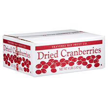 Traverse Bay Dried Cranberries - 4 lb. Box