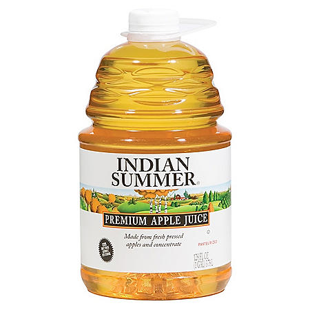 Indian Summer Premium Apple Juice (128 fl. oz., 4 ct.)