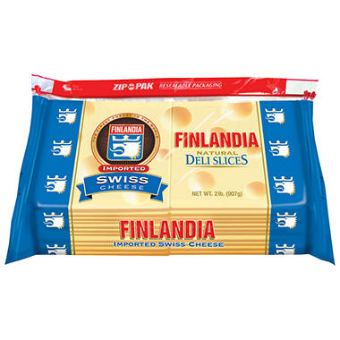 Finlandia Regular Swiss Cheese Slices - 2 lb.