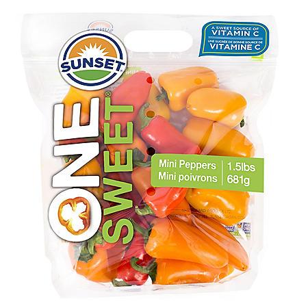 Sweet Mini Peppers  (1.5 lbs.)