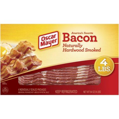 Oscar Mayer Bacon, Naturally Hardwood Smoked (1 lb., 4 pk.)