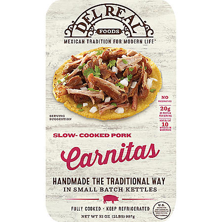 Del Real Pork Carnitas (2 lbs.)