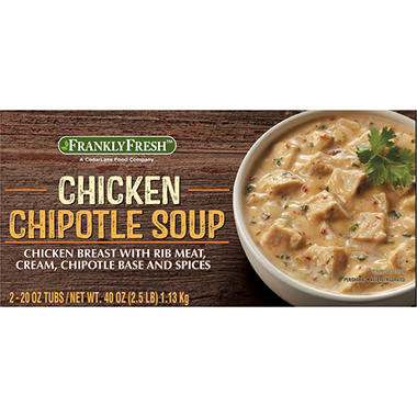 Frankly Fresh Chicken Chipotle Soup (20 oz. tubs, 2 pk.)
