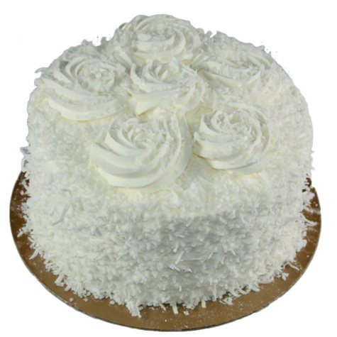 Daily Chef 8 in. Triple Layer Coconut Cake