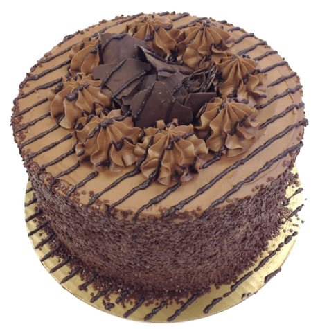 Daily Chef 8 in. Triple Layer Chocolate Fudge Cake
