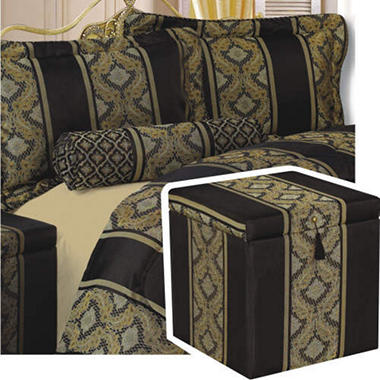 Onyx Treasure Chest Bedroom Ensemble - King - 6 pc.