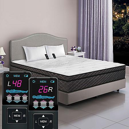 Dual Digital Visions Pillowtop Air Bed