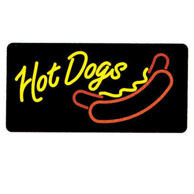 Gold Medal®  8984 Lighted Hot Dogs Sign