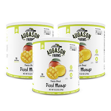Augason Farms Freeze-Dried Diced Mango (#10 can, 3 pk.)