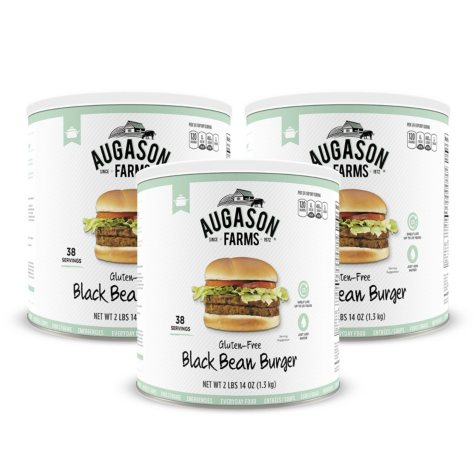 Augason Farms Black Bean Burger (#10 can, 3 pk.)