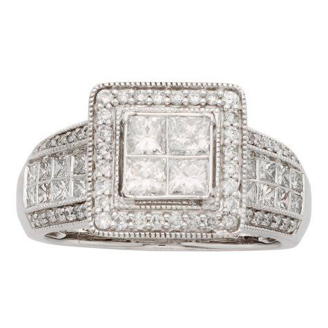 1.5 CT. T.W. Diamond Bridal Ring in 14K Gold