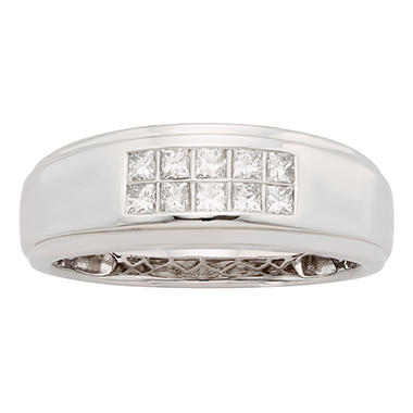 0.50 CT. T.W. Diamond Mens Band in 14K White Gold