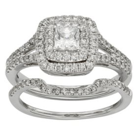 Price High To Low 1 0 Ct T W Diamond Bridal Set In 14k Gold