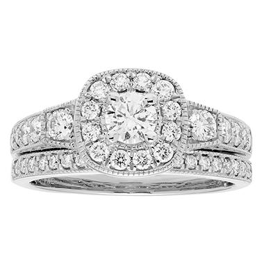 1.0 ct. t.w. Diamond Bridal Set in 14K Gold