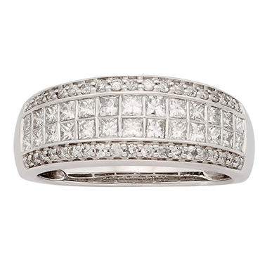 1 CT T.W. Diamond Band Set in 14K White Gold