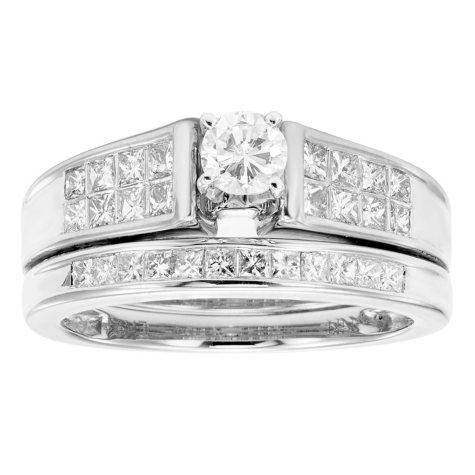 1 CT T.W. Diamond Wedding Ring Set in 14K Gold