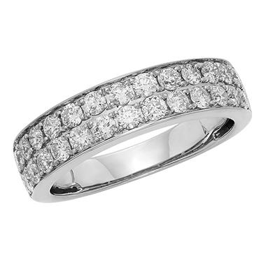1.0 CT. T.W. Diamond Band Set in 14K Gold