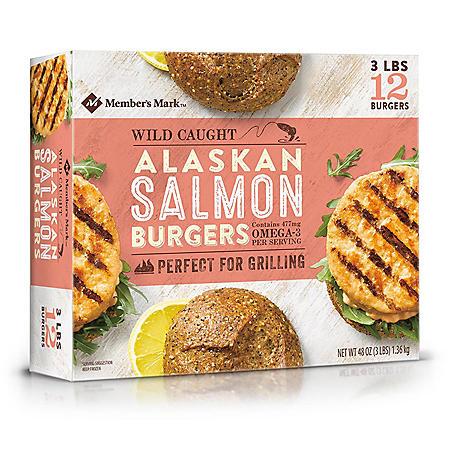 Member's Mark Alaskan Salmon Burgers (3 lb.)