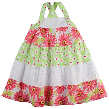 Penelope Mack Girls' Pink Rose 2 Dress