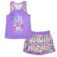 Skechers Girl's Run Jump Dance Toddler Active Set