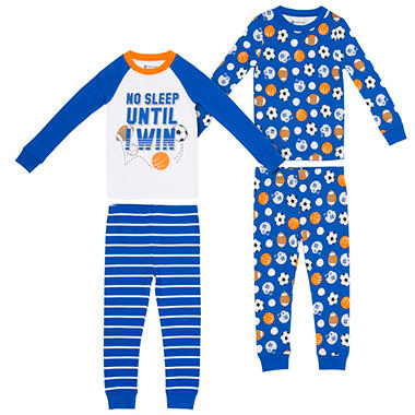 Member's Mark Boys' 4-Piece Snug Fit Pajamas