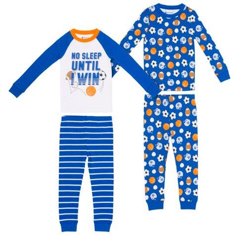 Member's Mark Boys' 4-Piece Snug Fit Pajamas
