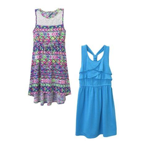 Pink & Violet Girl's 2-Pack Dress (Turquoise & Blue)