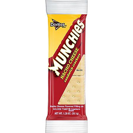 Munchies Nacho Cheese Sandwich Crackers (1.38 oz., 32 ct.)