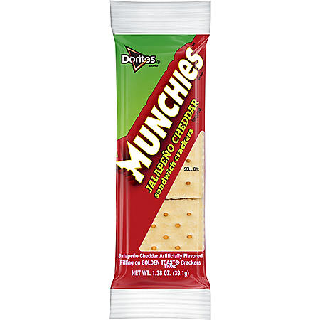 Munchies Jalapeno Cheddar Sandwich Crackers (1.38 oz., 32 ct.)